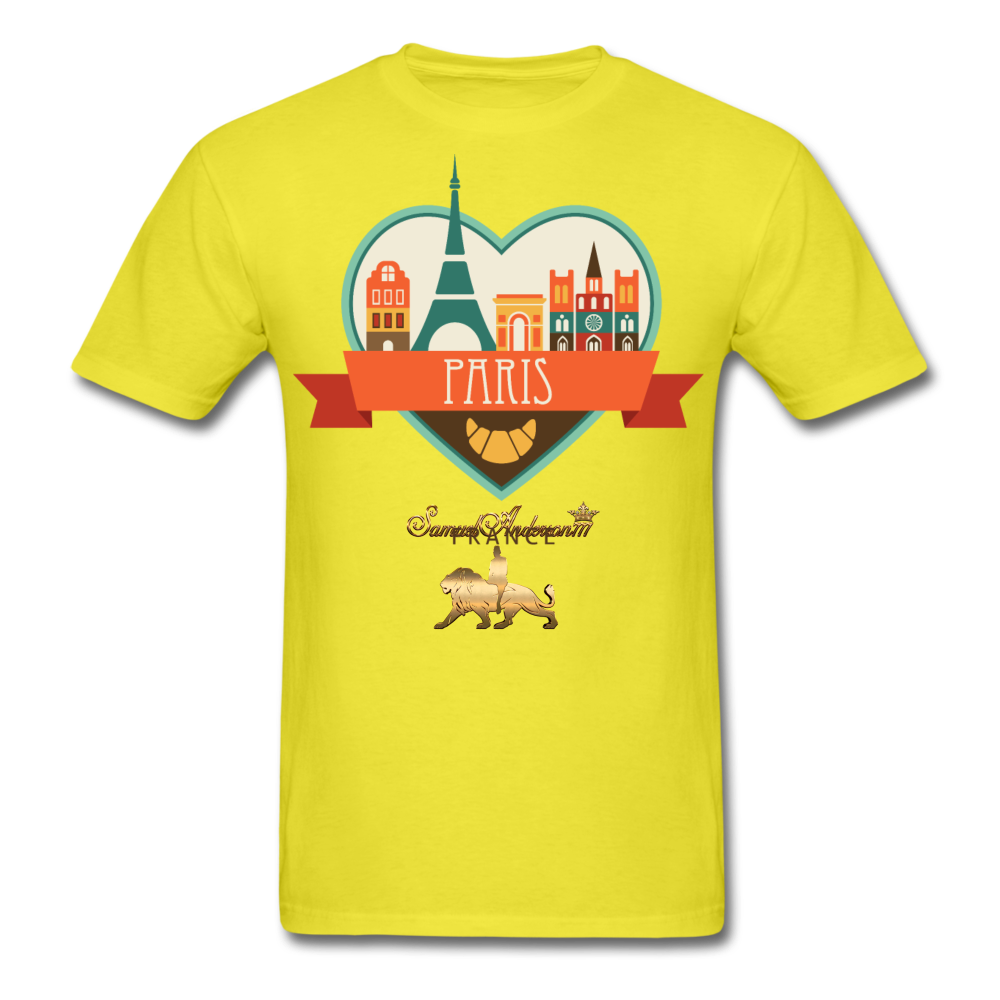 Paris Men's T-Shirt - yellow