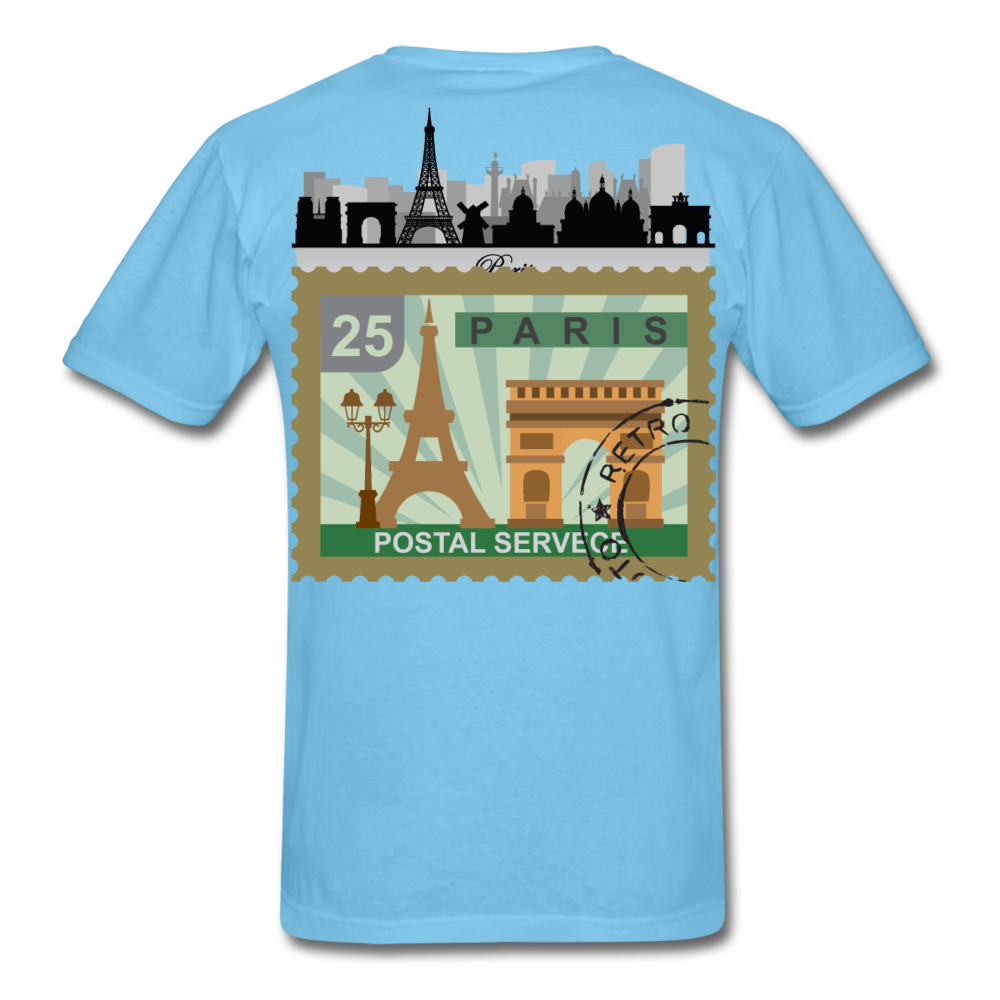Paris Men's T-Shirt - aquatic blue