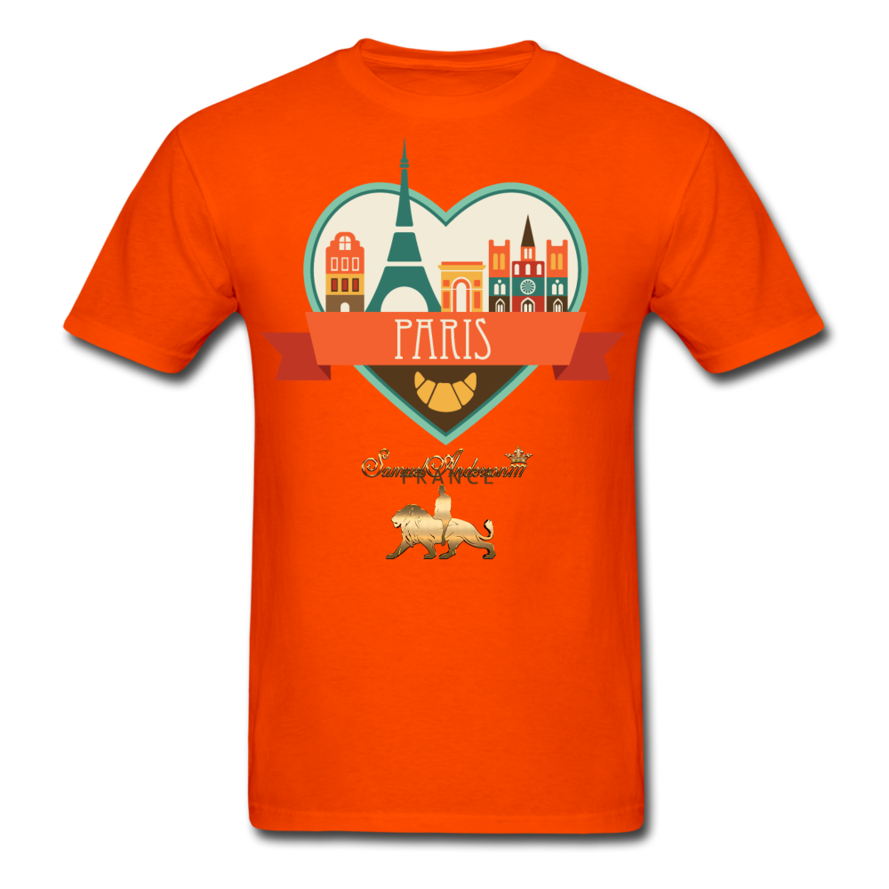 Paris Men's T-Shirt - orange