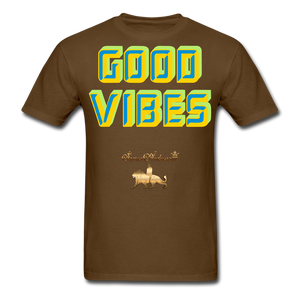 Good Vibes Only Men's T-Shirt - brown