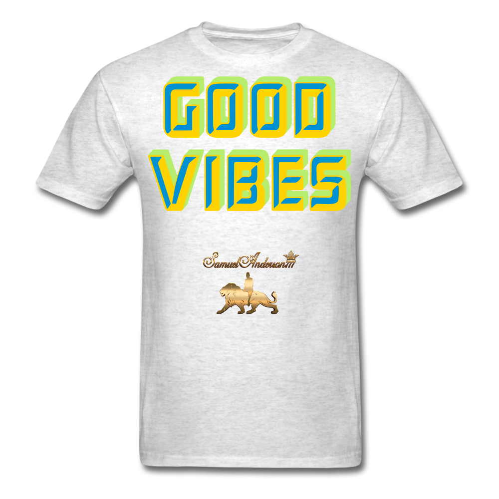 Good Vibes Only Men's T-Shirt - light heather gray