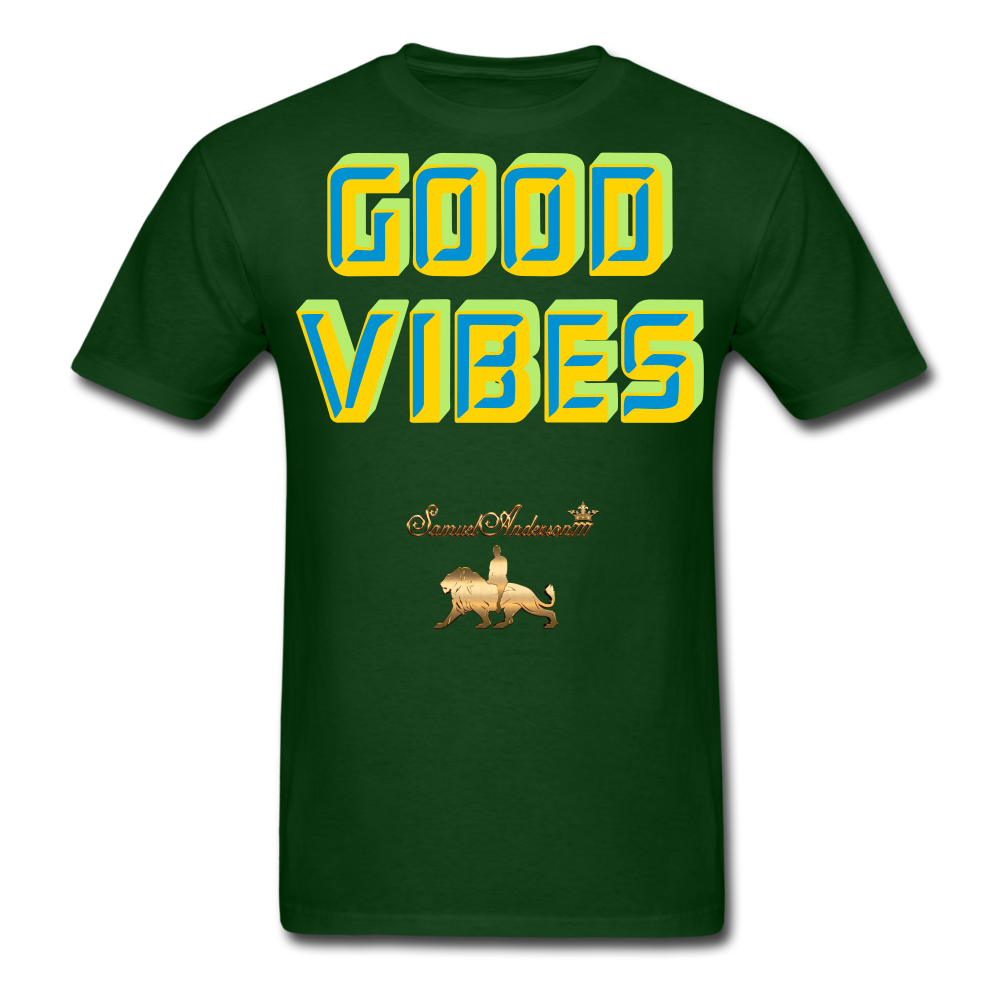 Good Vibes Only Men's T-Shirt - forest green