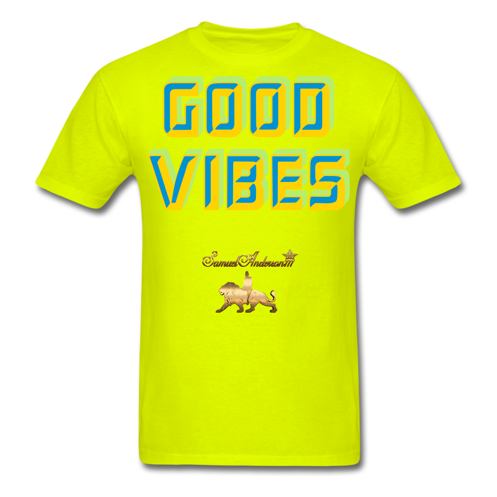 Good Vibes Only Men's T-Shirt - safety green