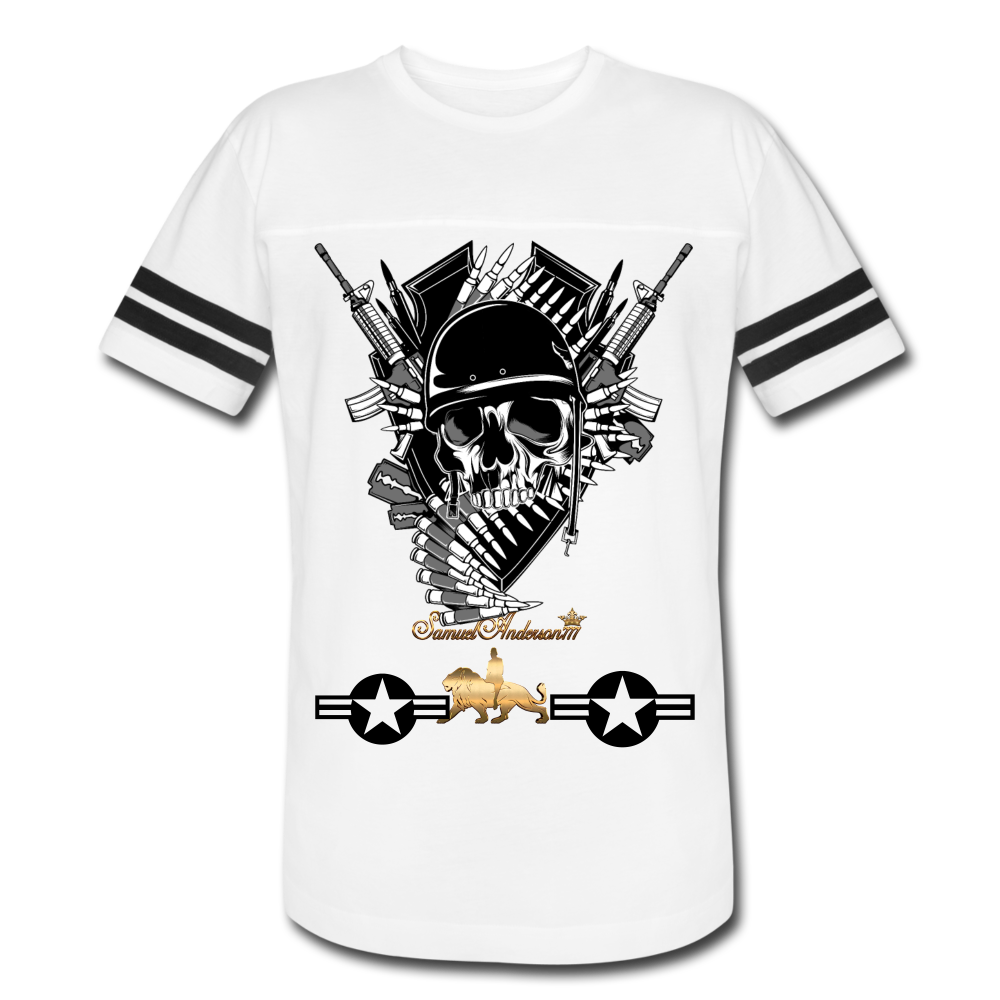 Mind of a Soldier PREMIUM Vintage Sport T-Shirt - white/black