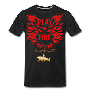 Play With Fire Men's Premium T-Shirt - black