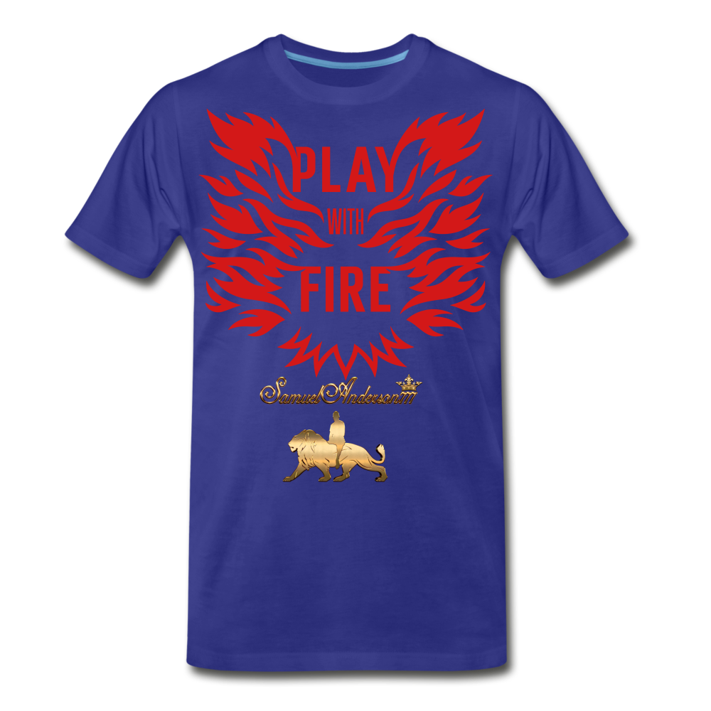 Play With Fire Men's Premium T-Shirt - royal blue