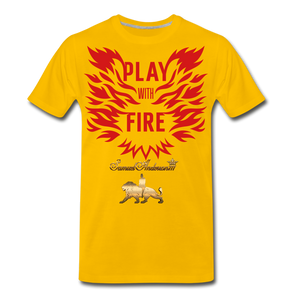 Play With Fire Men's Premium T-Shirt - sun yellow