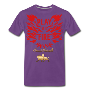 Play With Fire Men's Premium T-Shirt - purple