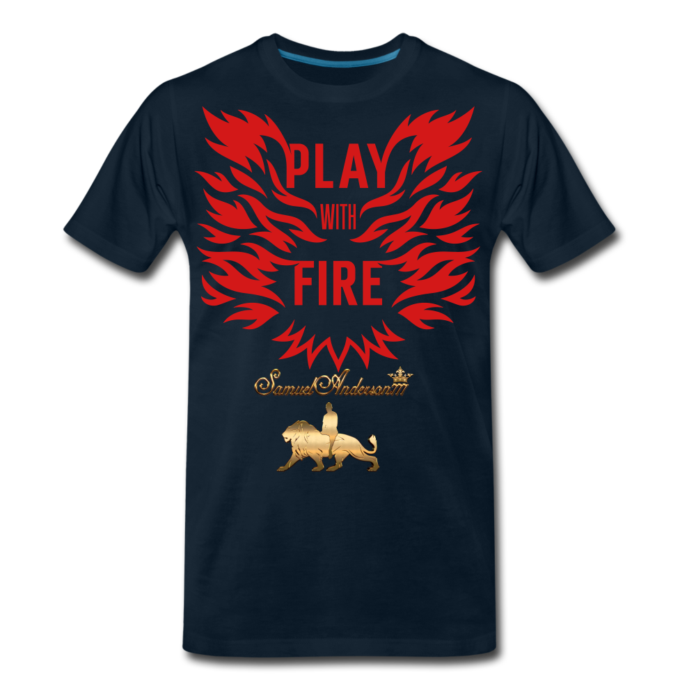 Play With Fire Men's Premium T-Shirt - deep navy