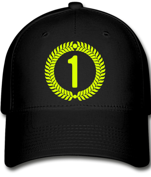 Number 1 Baseball Cap - black