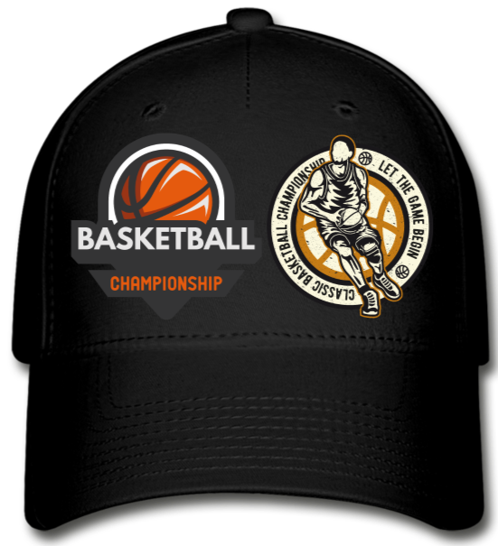 Championship Basketball  Cap - black