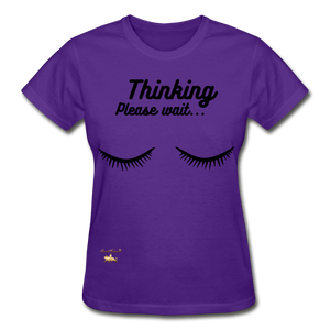 Thinking! Ultra Cotton Ladies T-Shirt - purple