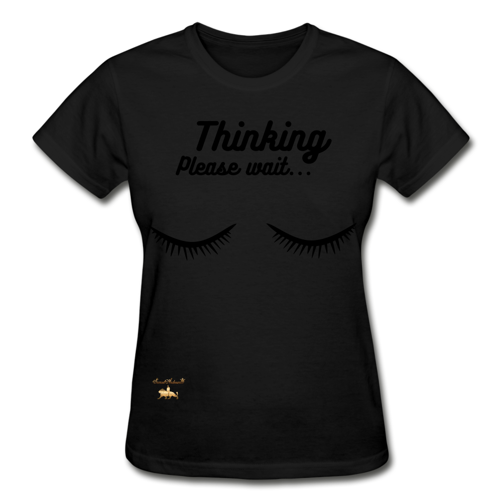 Thinking! Ultra Cotton Ladies T-Shirt - black