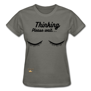 Thinking! Ultra Cotton Ladies T-Shirt - charcoal