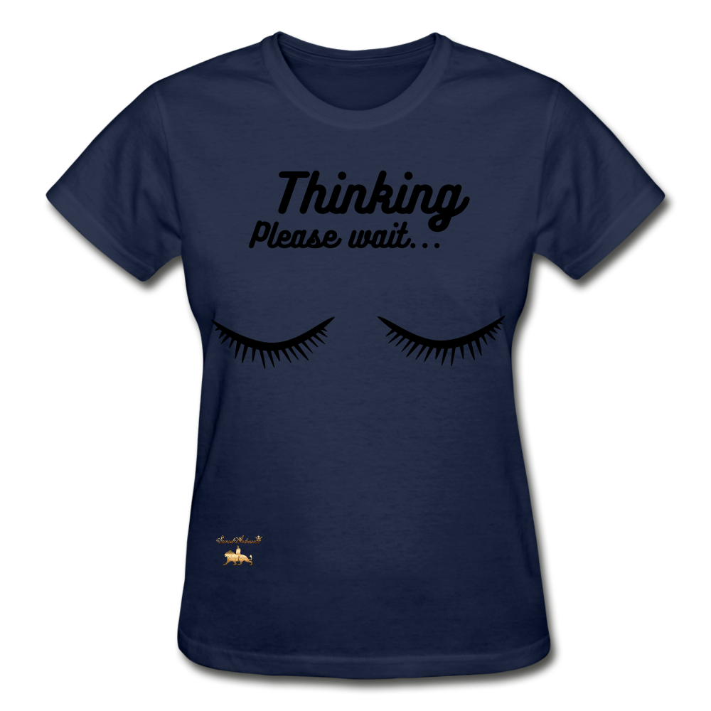 Thinking! Ultra Cotton Ladies T-Shirt - navy