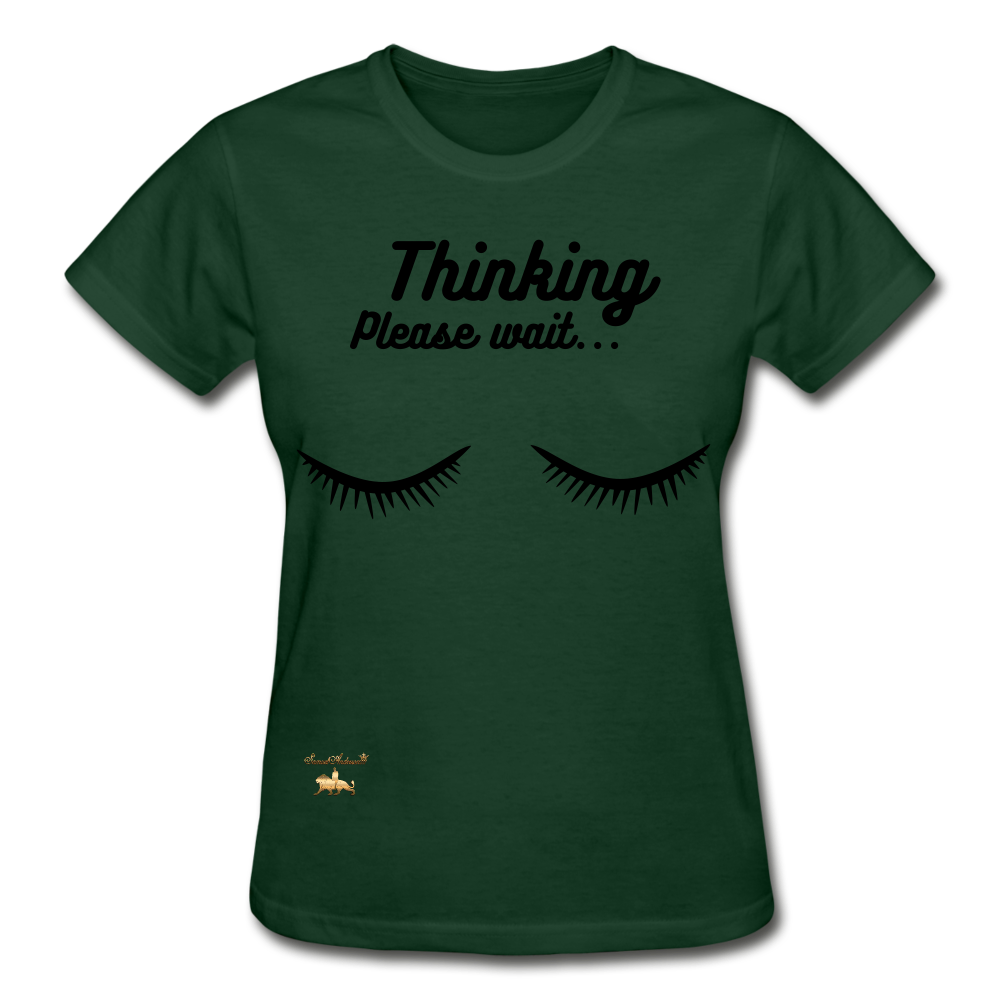 Thinking! Ultra Cotton Ladies T-Shirt - forest green