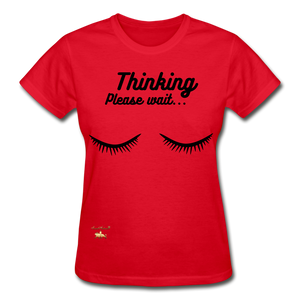 Thinking! Ultra Cotton Ladies T-Shirt - red
