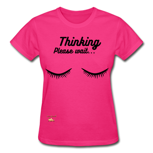 Thinking! Ultra Cotton Ladies T-Shirt - fuchsia