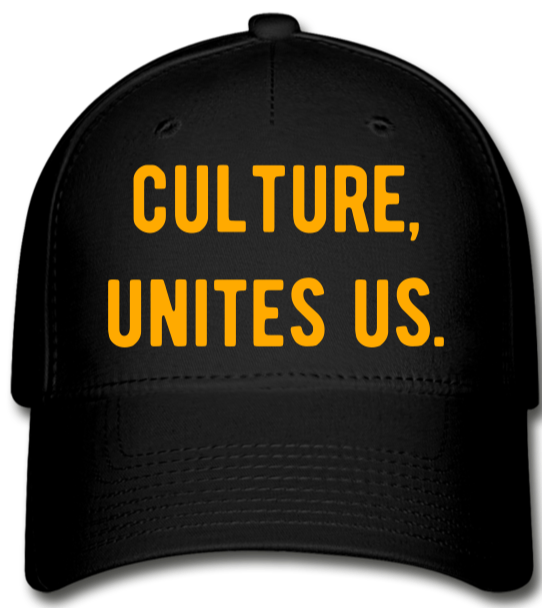 Culture, Unites Us!!! Baseball Cap - black