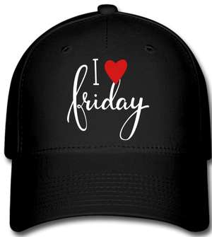 I Love Fridays!!!!!! Baseball Cap - black
