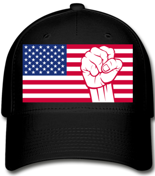 USA Baseball Cap - black