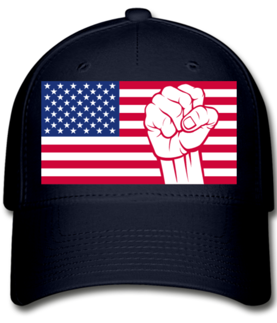 USA Baseball Cap - navy