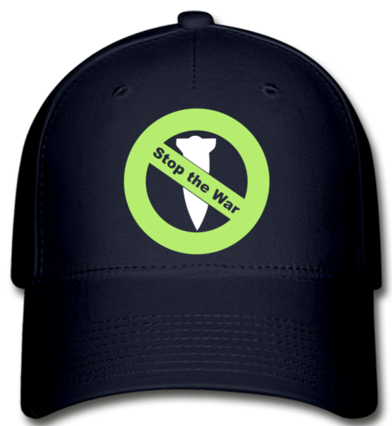 Stop the War  Baseball Cap - navy