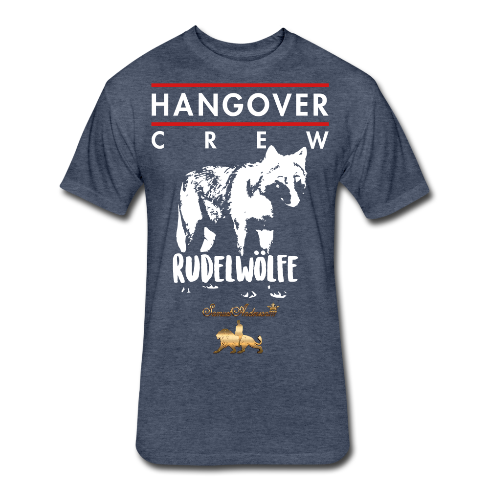 Hangover Crew  Fitted Cotton/Poly T-Shirt - heather navy