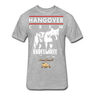 Hangover Crew  Fitted Cotton/Poly T-Shirt - heather gray