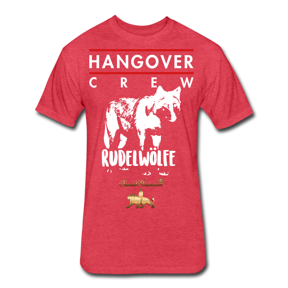 Hangover Crew  Fitted Cotton/Poly T-Shirt - heather red