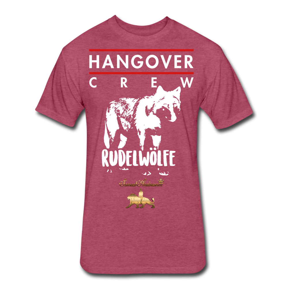 Hangover Crew  Fitted Cotton/Poly T-Shirt - heather burgundy