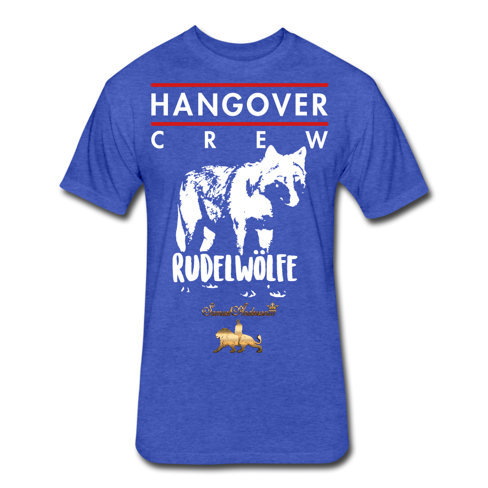 Hangover Crew  Fitted Cotton/Poly T-Shirt - heather royal