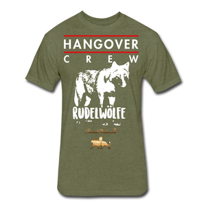 Hangover Crew  Fitted Cotton/Poly T-Shirt - heather military green