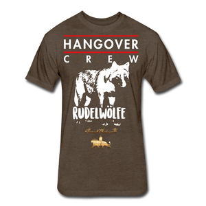 Hangover Crew  Fitted Cotton/Poly T-Shirt - heather espresso