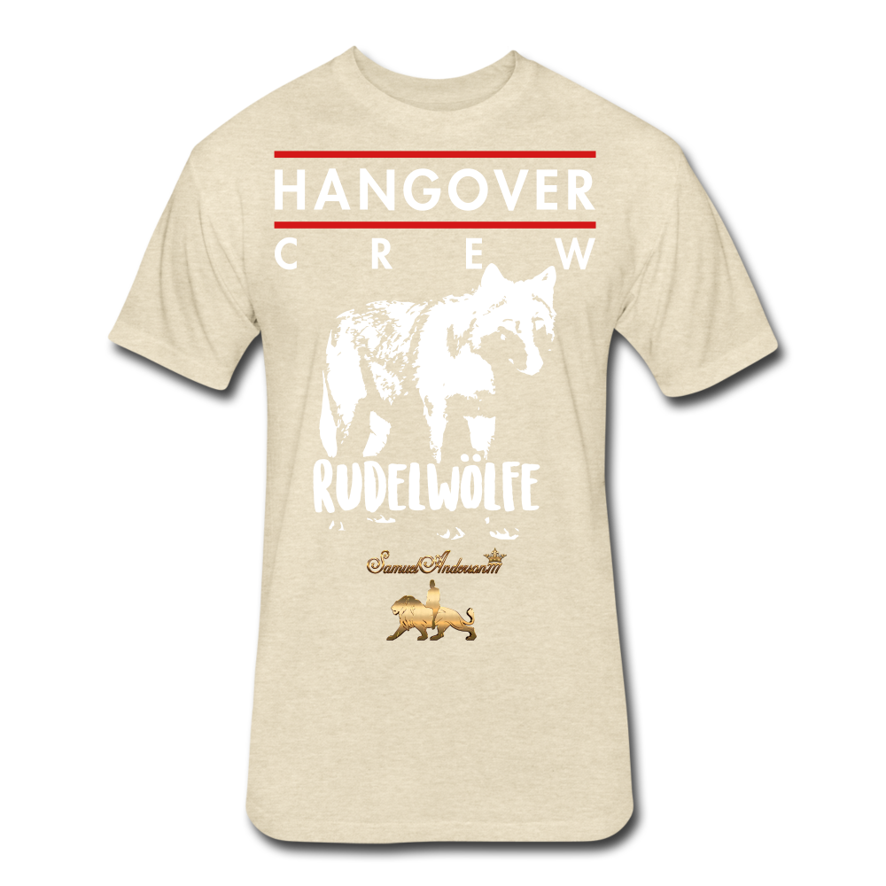 Hangover Crew  Fitted Cotton/Poly T-Shirt - heather cream