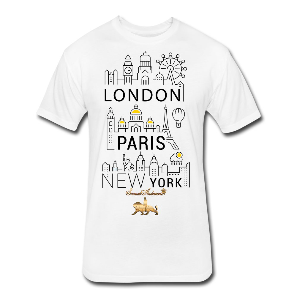 London-Paris-New York   Fitted Cotton/Poly T-Shirt - white