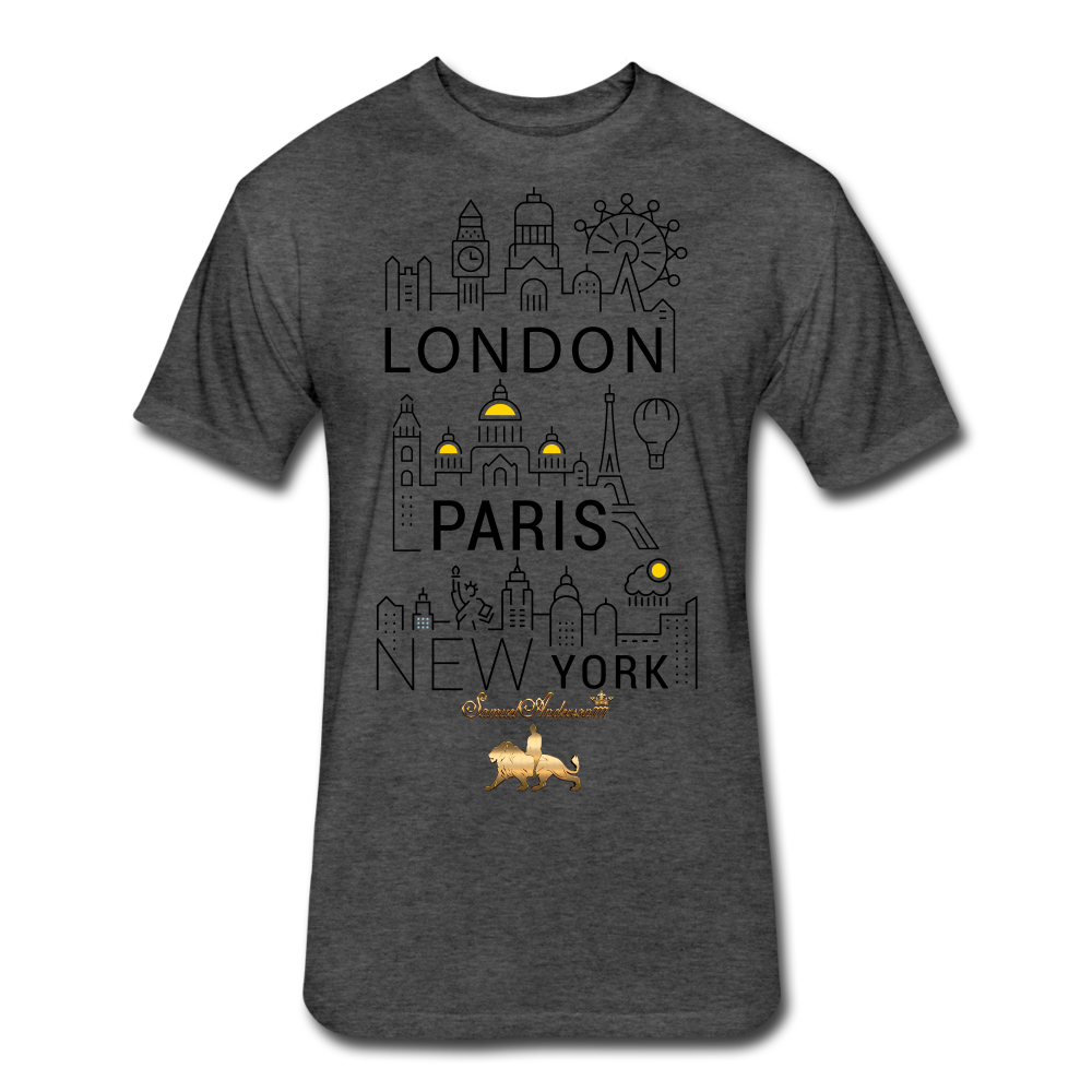 London-Paris-New York   Fitted Cotton/Poly T-Shirt - heather black