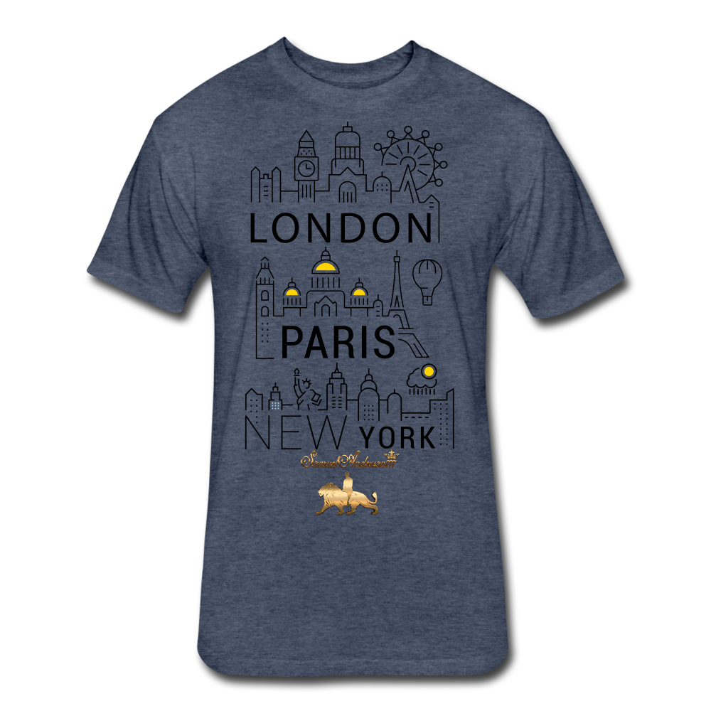 London-Paris-New York   Fitted Cotton/Poly T-Shirt - heather navy