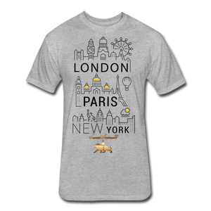 London-Paris-New York   Fitted Cotton/Poly T-Shirt - heather gray
