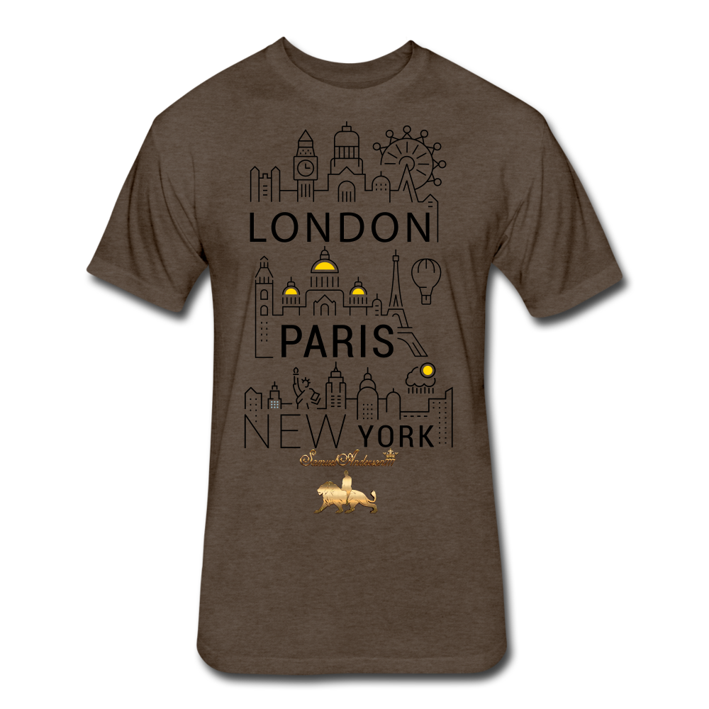 London-Paris-New York   Fitted Cotton/Poly T-Shirt - heather espresso