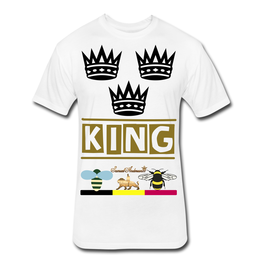 King Fitted Cotton/Poly T-Shirt - white