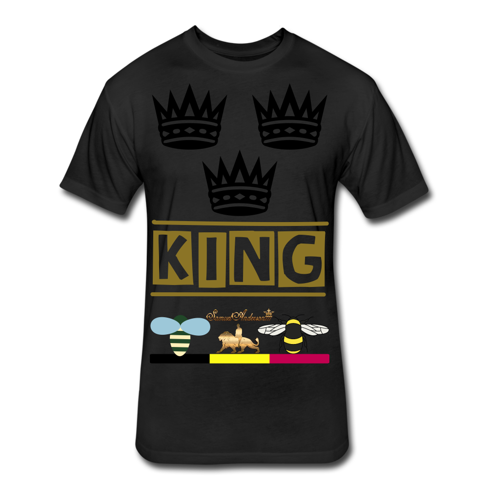 King Fitted Cotton/Poly T-Shirt - black