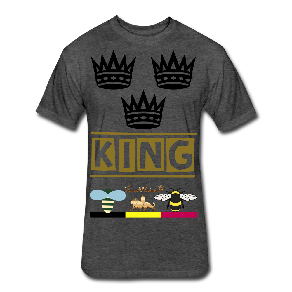 King Fitted Cotton/Poly T-Shirt - heather black