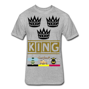 King Fitted Cotton/Poly T-Shirt - heather gray