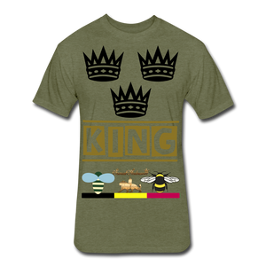 King Fitted Cotton/Poly T-Shirt - heather military green