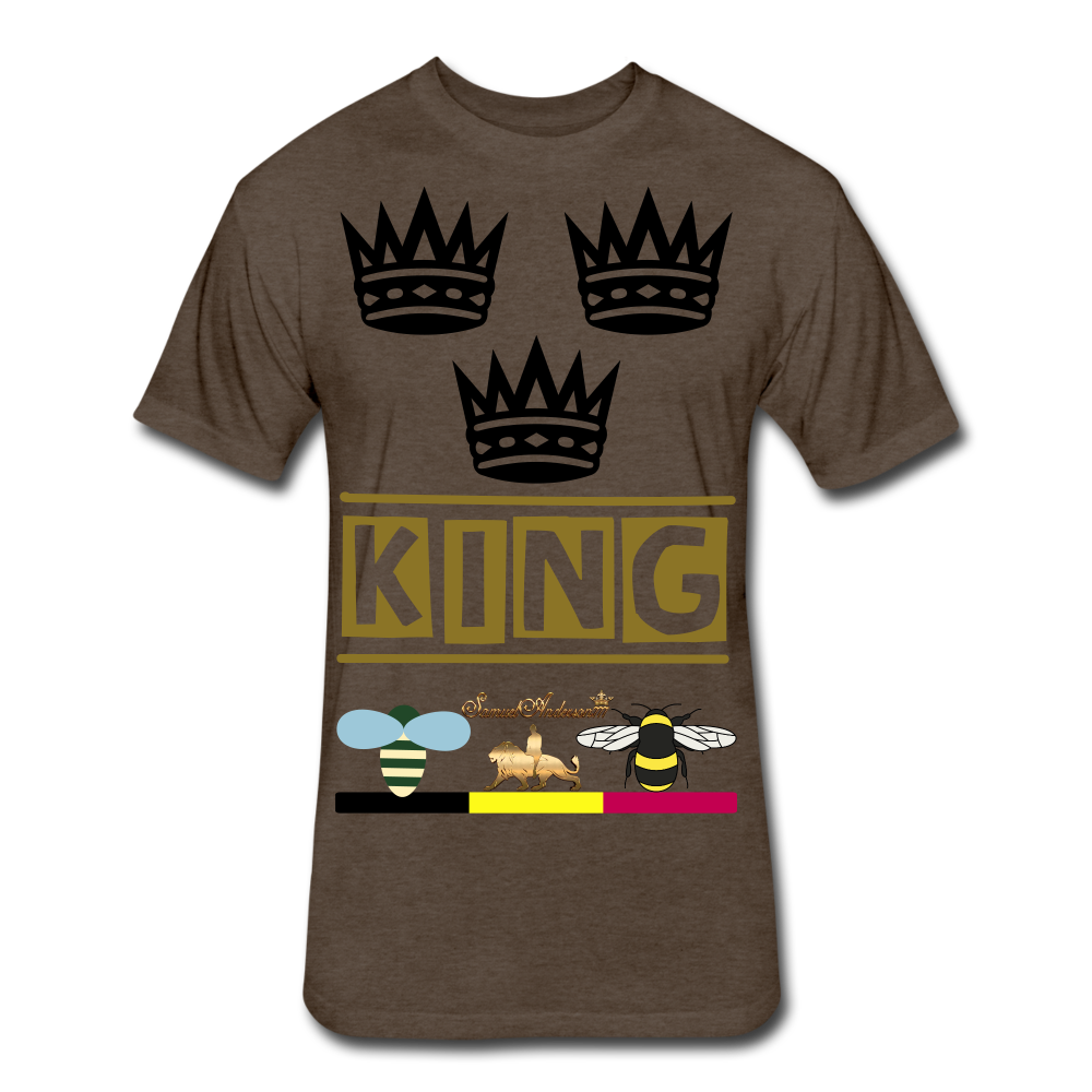 King Fitted Cotton/Poly T-Shirt - heather espresso