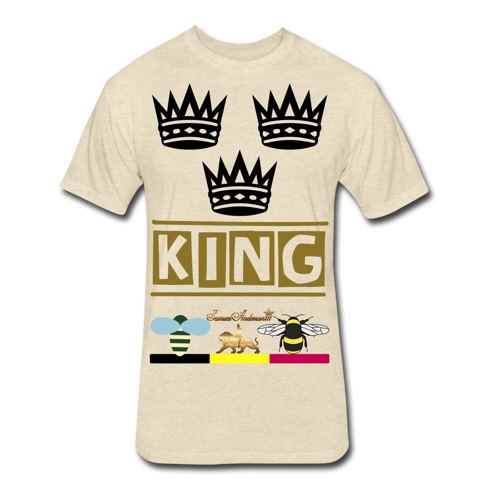 King Fitted Cotton/Poly T-Shirt - heather cream
