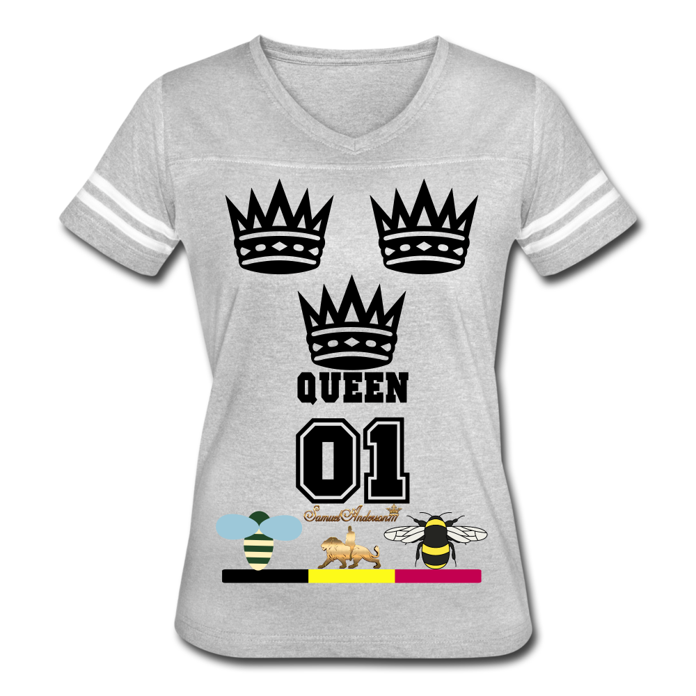 Queen Women's Vintage Sport T-Shirt - heather gray/white