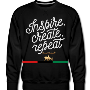 Create!!!! Men's Premium Sweatshirt - black