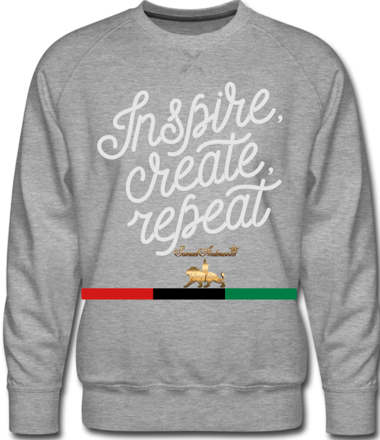 Create!!!! Men's Premium Sweatshirt - heather gray